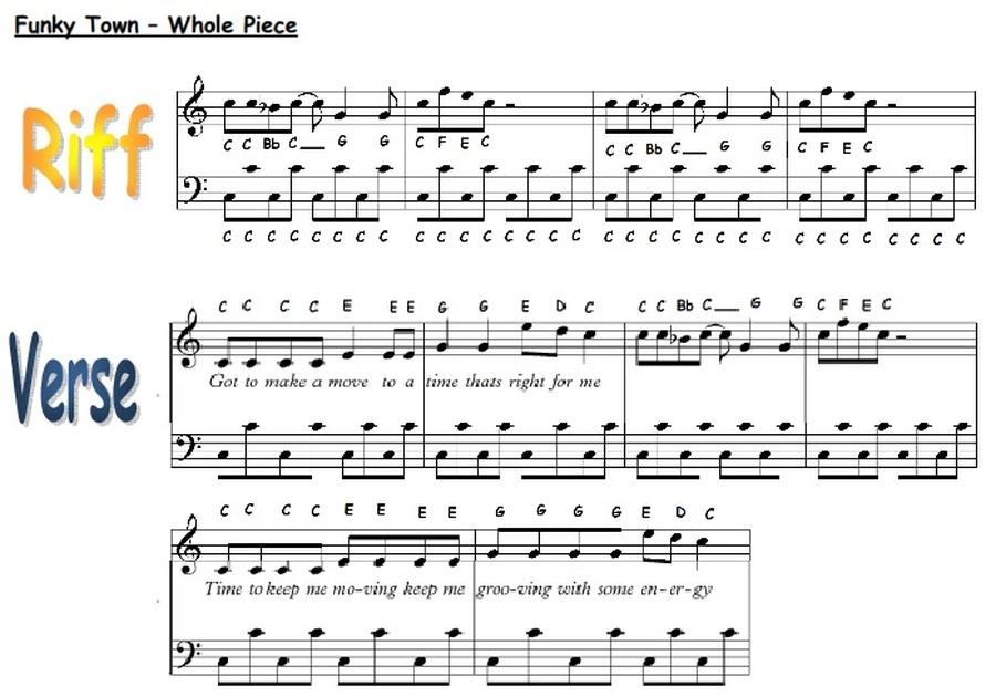 Piano mission impossible piano sheet music : Unit 6 - Riffs - misswardmusic.com